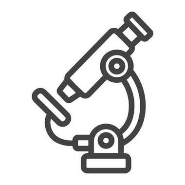 Microscope line icon, Education and science