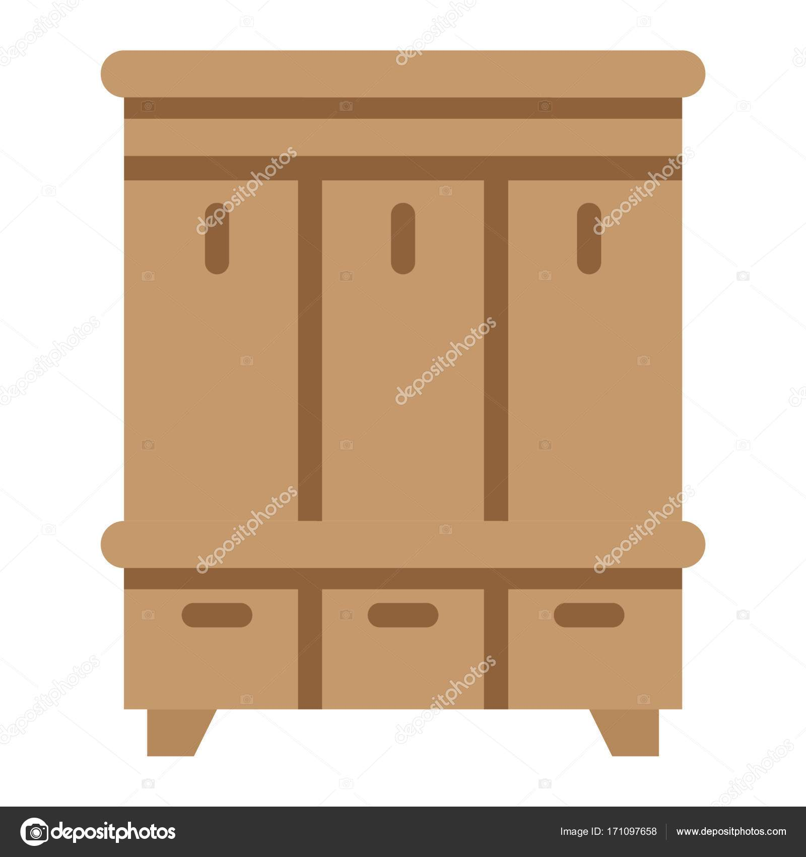 Icono plano closet de pasillo, muebles y interior — Archivo Imágenes ...