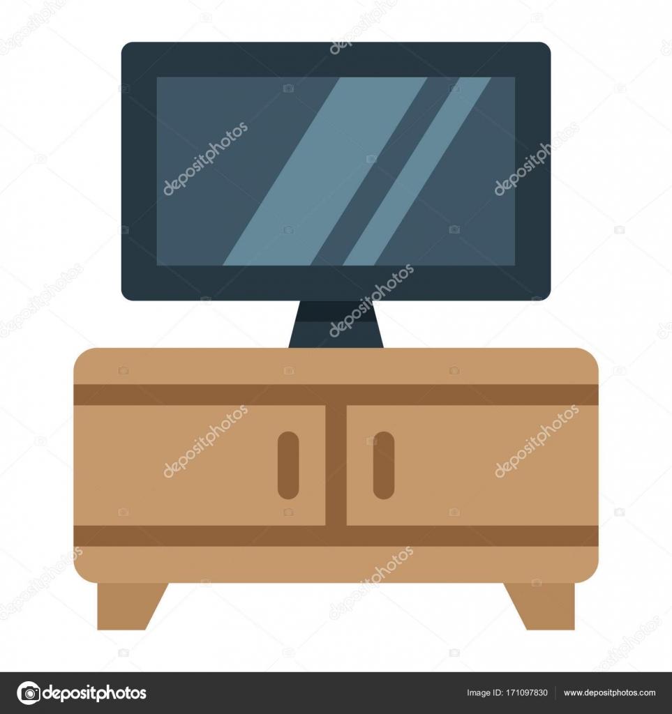Icône Plate Tv Banc De Mobilier Et Dintérieur Image Vectorielle