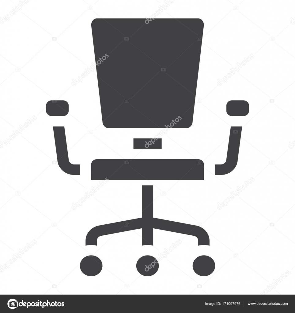 Icne Solide Chaise De Bureau Mobilier Et Llment Intrieur Graphiques Vectoriels Un Modle Rempli Sur Fond Blanc Eps 10 Vecteur Par