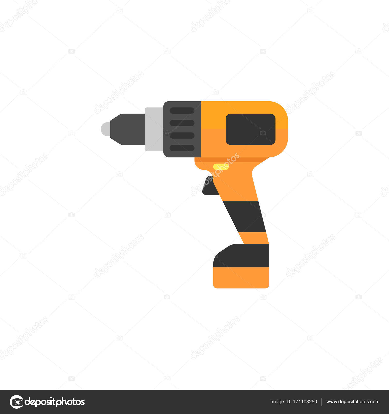 Elektrische Schraubendreher flach Symbol, Build Reparatur ...