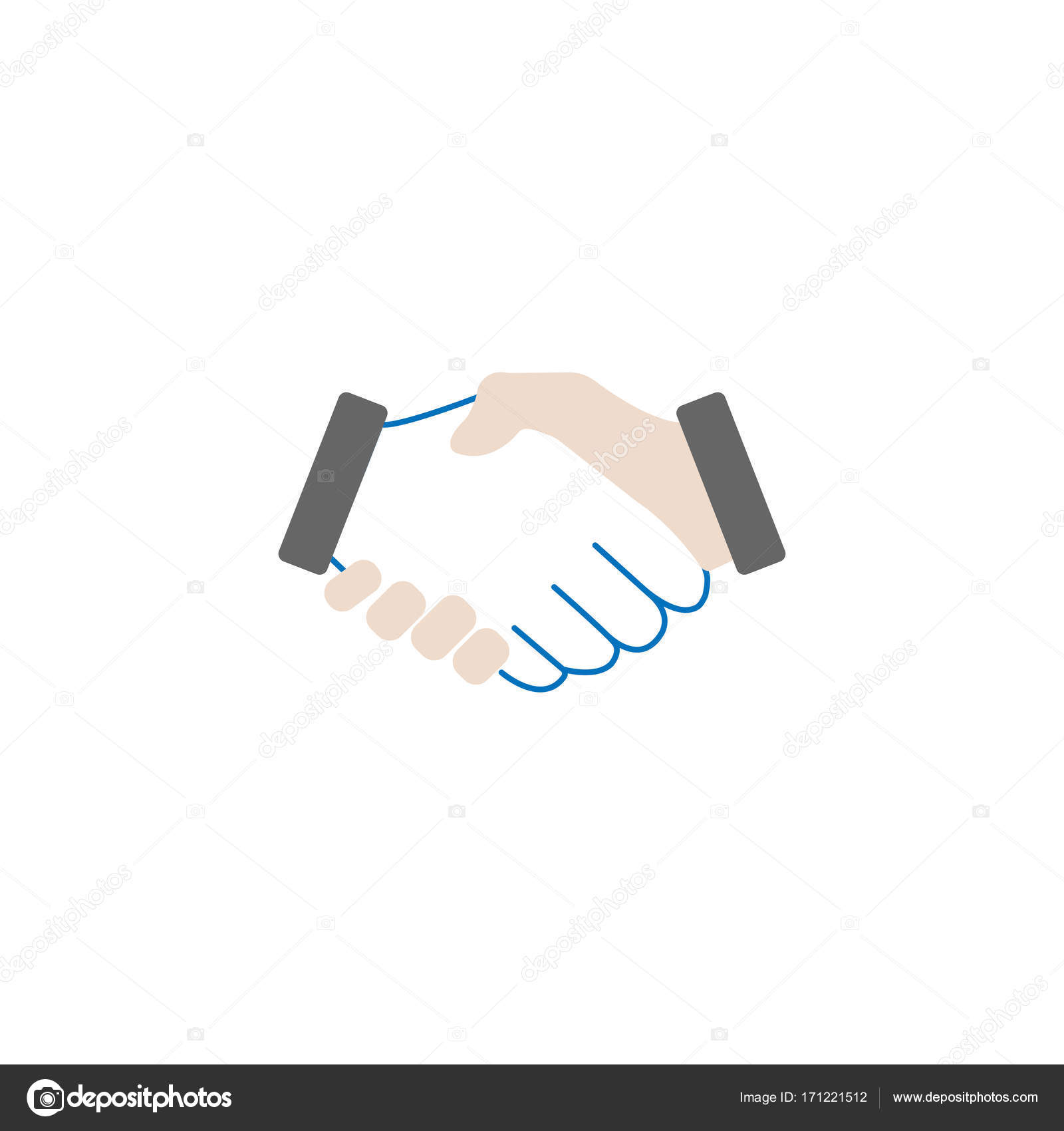 Business Handshake solide Symbol, Geschäft Abkommen — Stockvektor ...