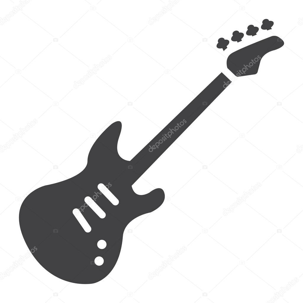 ic u00f4ne de glyphe de guitare basse  musique et instrument