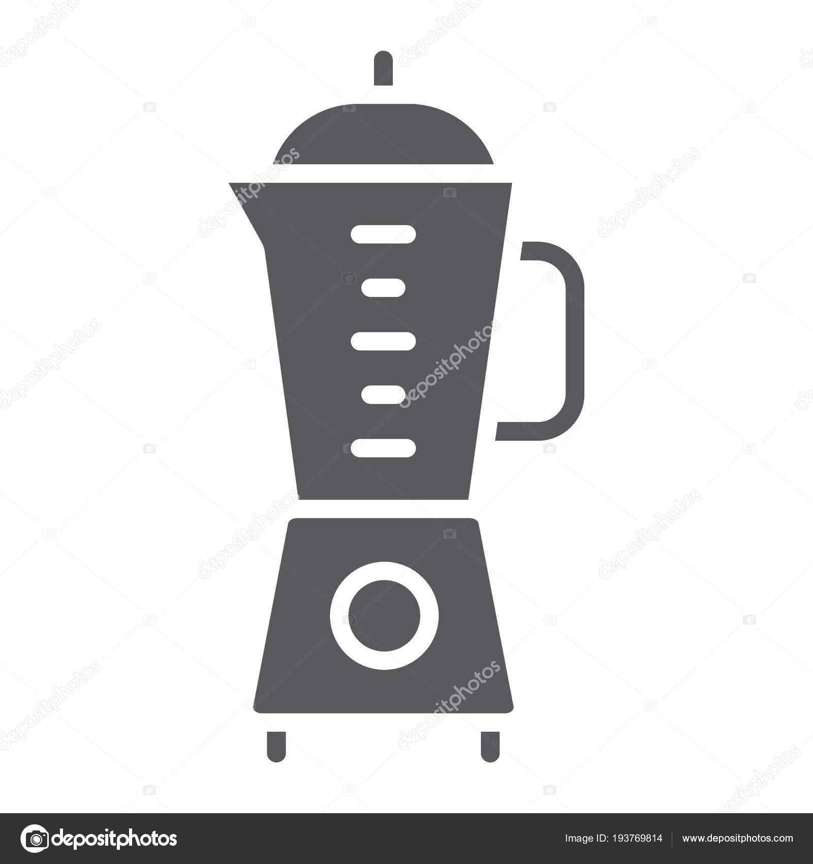 Mixer-Glyph-Symbol, Küche und Kochen, Vektorgrafiken Mixer Zeichen ...