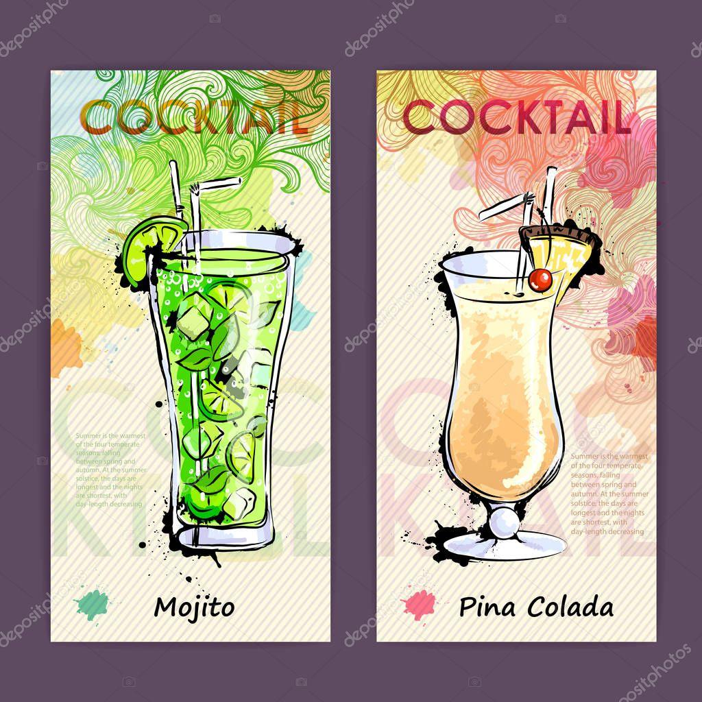 Cocktail Karte.Künstlerisch Dekorativen Cocktail Karte Disco Hintergrund