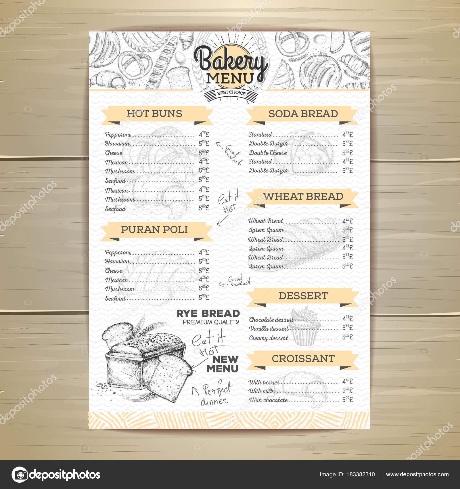 Vintage bakery menu design restaurant menu document template vintage bakery menu design restaurant menu document template stock vector thecheapjerseys Images