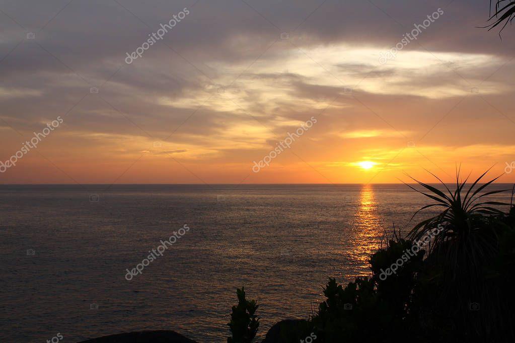 Sunset at Similan Island, Thailand