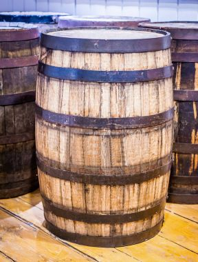 Old barrel for whiskey whisky wine or beer stock vector