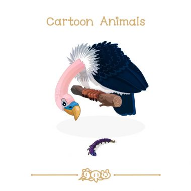 Toons series cartoon animals: predator bird vulture