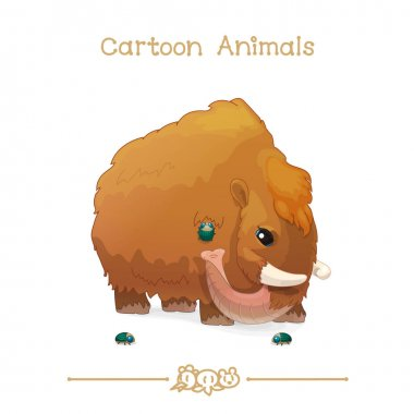 Toons series cartoon animals: woolly mammoth