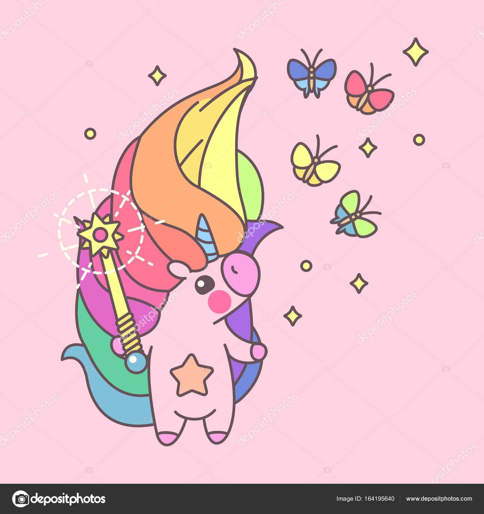 bunte pastell poster niedlichen einhorn 11 stockillustration