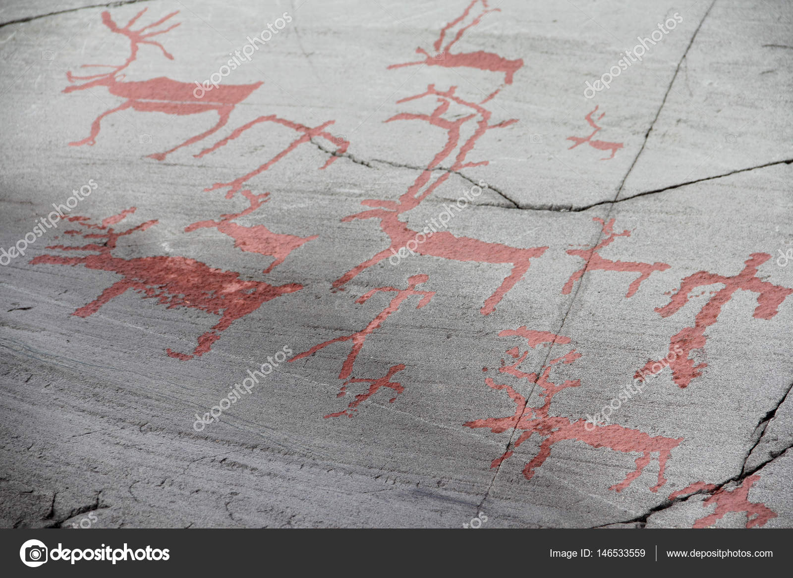 Rock carvings at alta u stock photo destillat