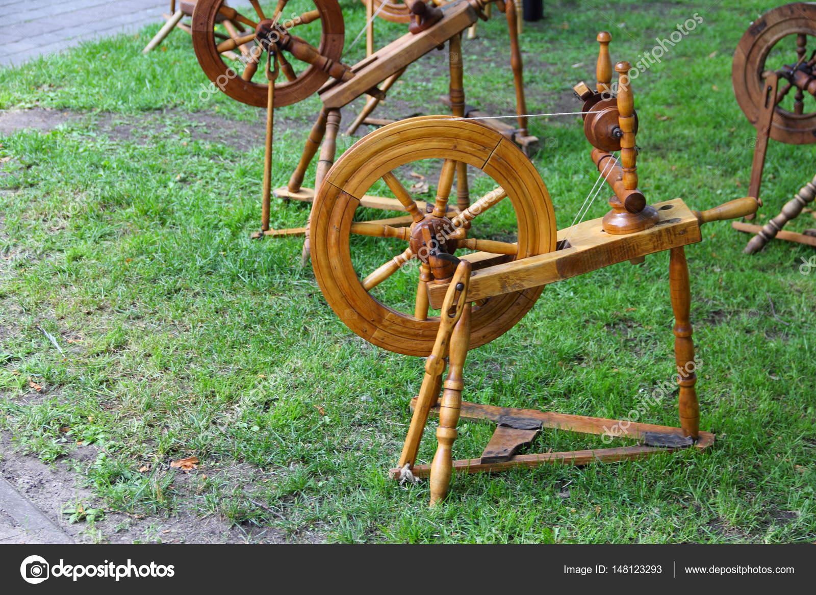 Old Spinning Wheel Stock Photo C Destillat 148123293