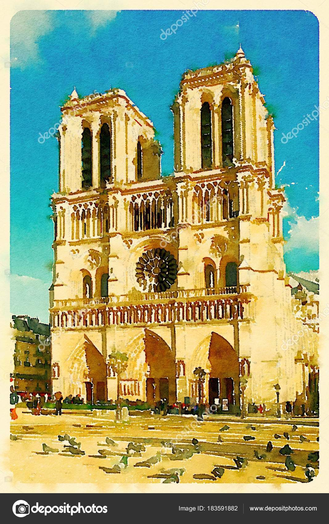 Notre Dame Cathedral Wallpaper Front View Cathedrale Notre Dame