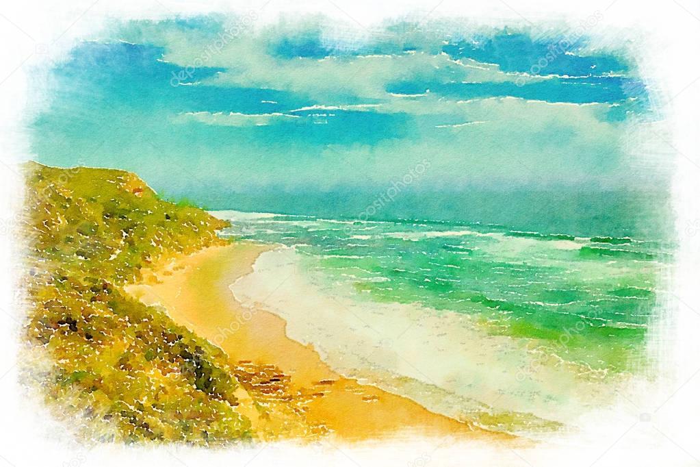 Glenair beach in Australia