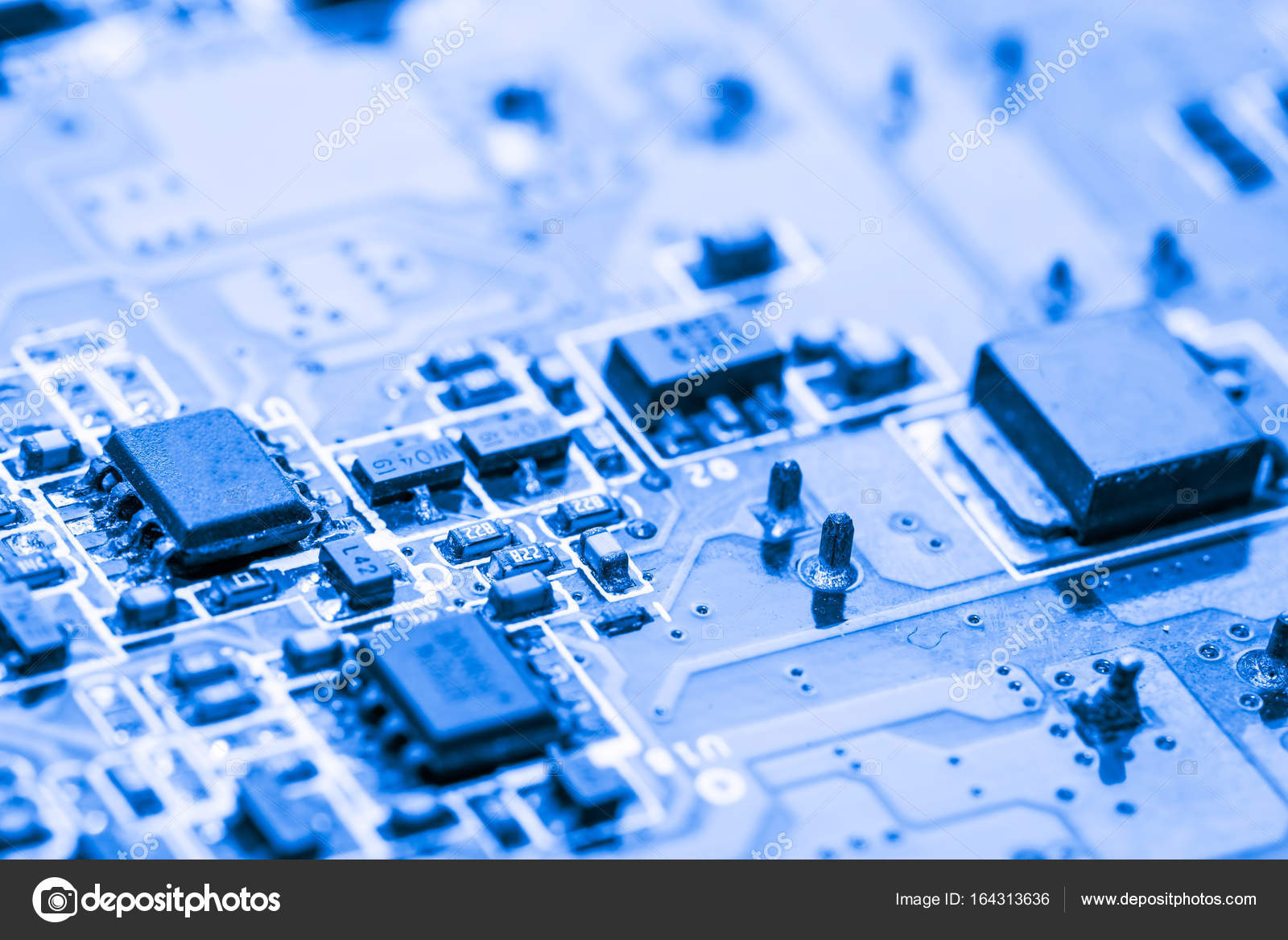Abstract Close Up At Electronic Circuits We See The Technology Of Motherboard Circuit Board Components Find Mainboard Which Is Important Background Computerlogic