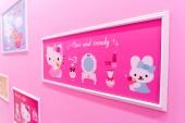 Jeju, Dél-Korea-szeptember 27,2016: Hello Kitty sziget Múzeum, kávézó-Jeju