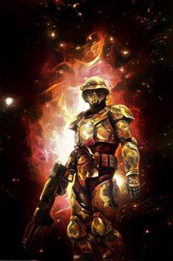 futuristic space soldier