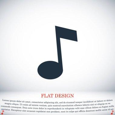 Music icon, vector