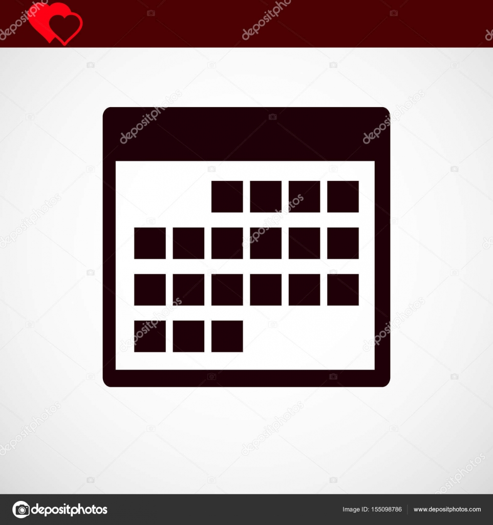 Icona Calendario.Vettore Icona Calendario Vettoriali Stock C Flat Icon