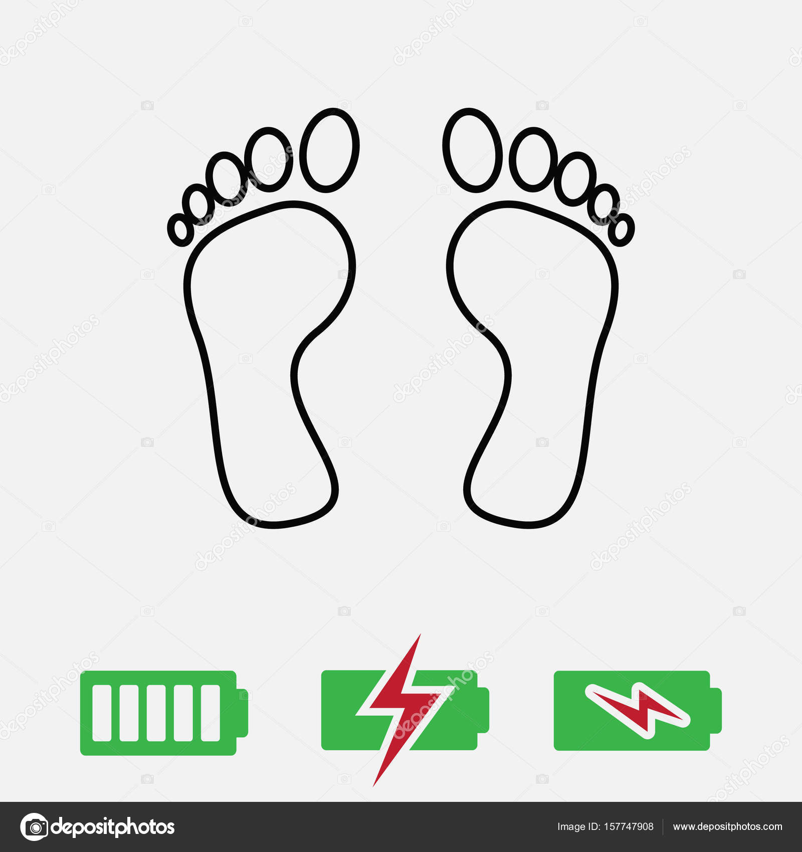 Feet Icon Vector Stock Vector C Flat Icon 157747908