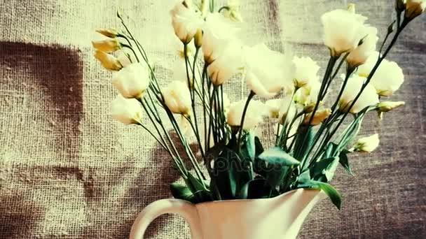 Vintage květiny. Panoramatický pohled