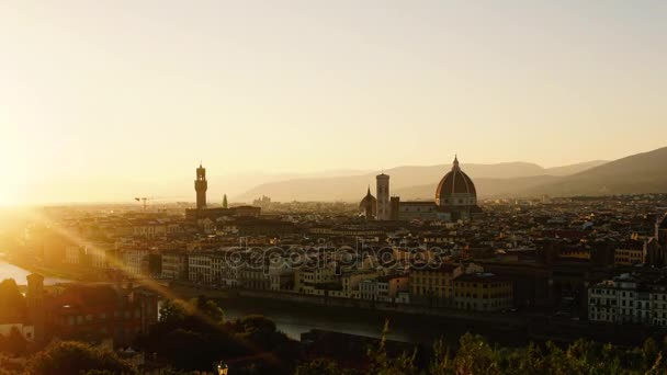 Itálie. Florencie. Timelapse