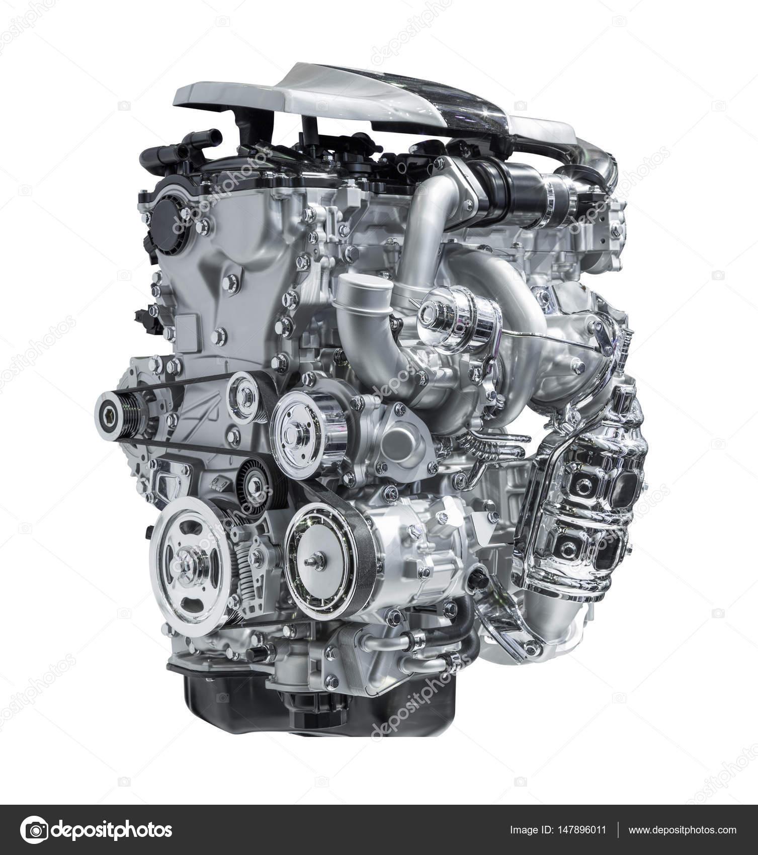 modernen Automotor isoliert auf weißem Hintergrund — Stockfoto ...