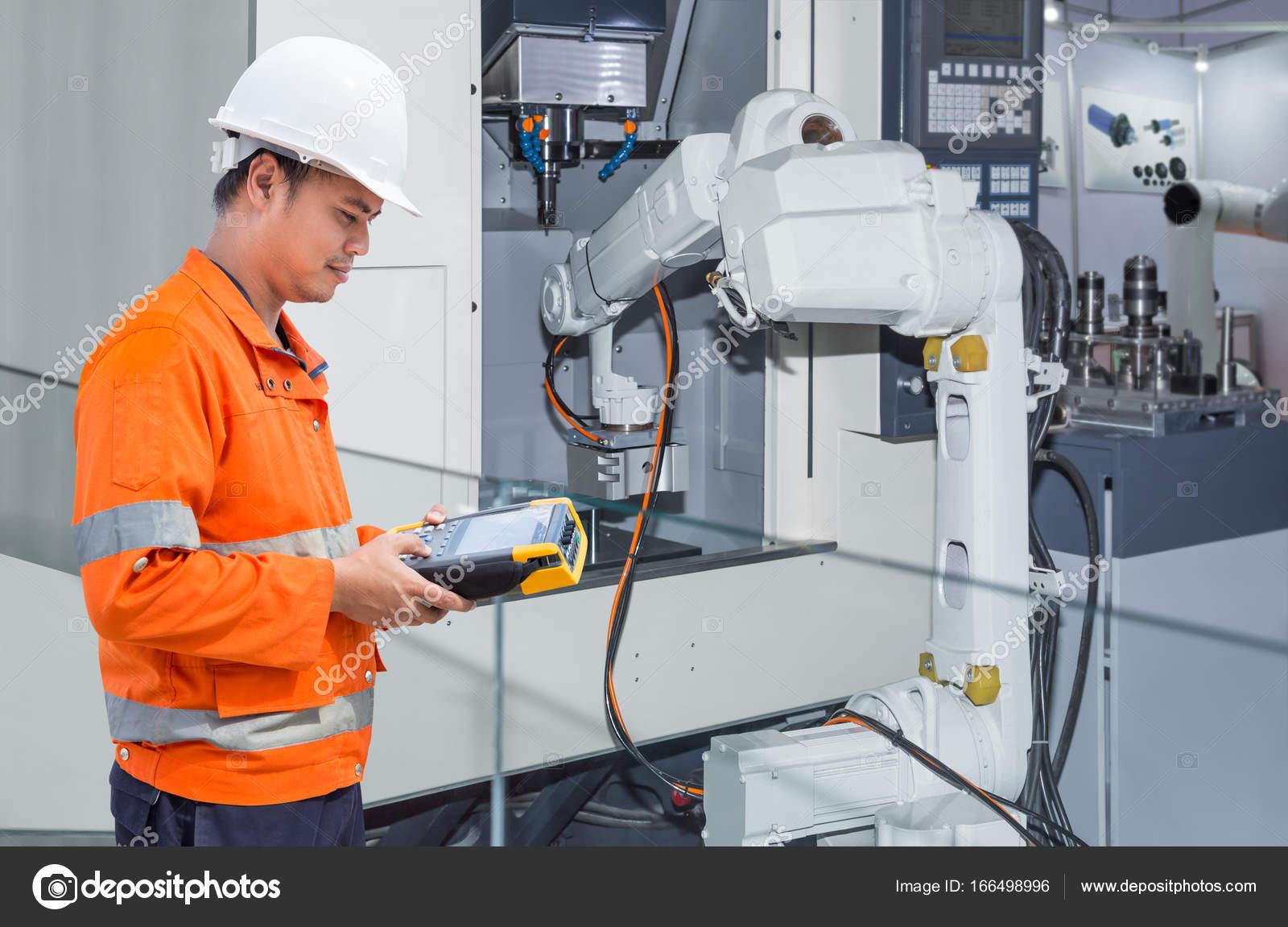 Programmeren Van Automatische Robot Handje Machine Met Cnc Machine