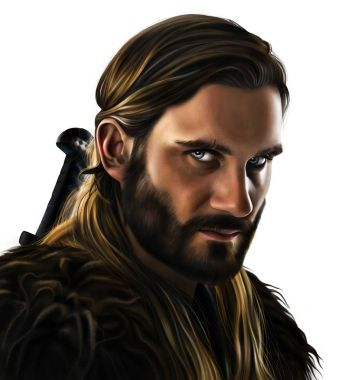 Digital portrait of Rollo Lothbrok