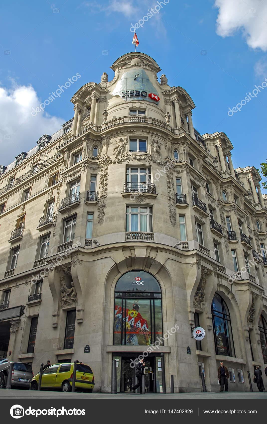 Paris, France - September 25, 2008: Commercial Architecture, HSBC