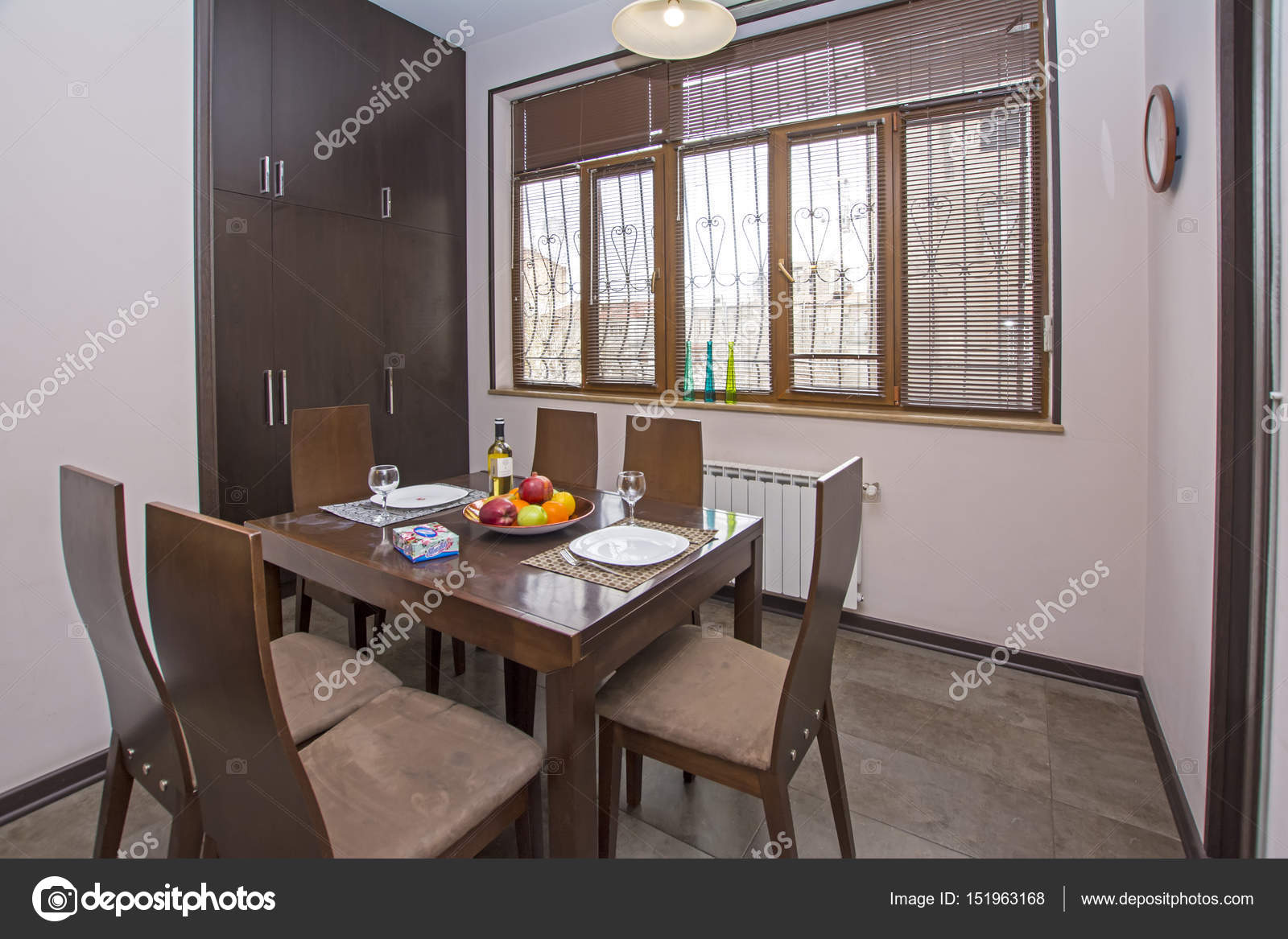 Yerevan Armenia April 11 2017 A Modern Apartment Living Room With Wooden Table And Chairs Luxury Apartment With Stylish Modern Interior Design Stock Editorial Photo C Artavet 151963168