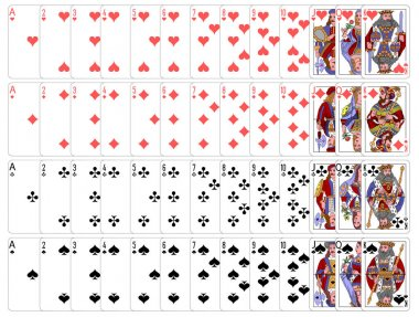 Complete playing card set