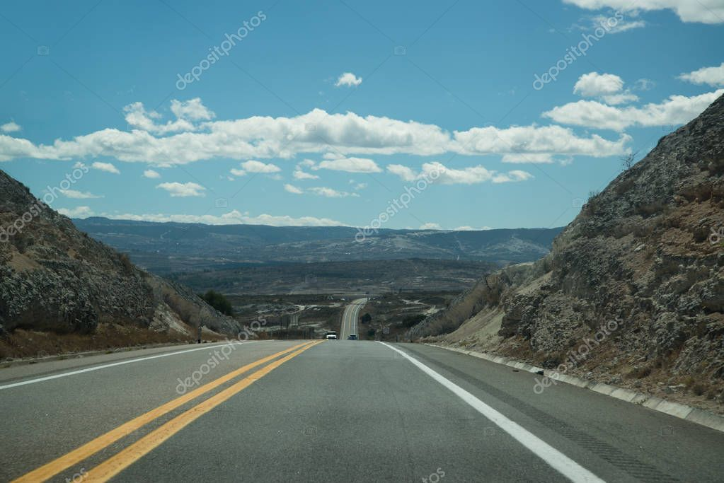 Mountain road in Oaxaca, Mexico