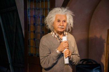 Albert Einstein in Grevin museum of the wax figures in Prague.