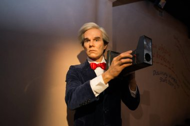 Andy Warhol in Grevin museum of the wax figures in Prague.