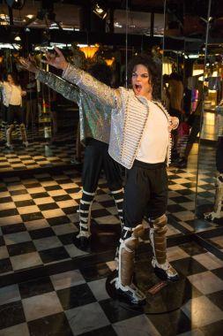 Michael Jackson in Grevin museum of the wax figures in Prague.