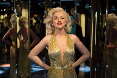 Marilyn Monroe in Grevin museum of the wax figures in Prague.