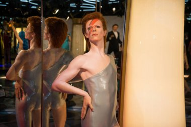 David Bowie in Grevin museum of the wax figures in Prague.