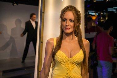 Angelina Jolie in Grevin museum of the wax figures in Prague.
