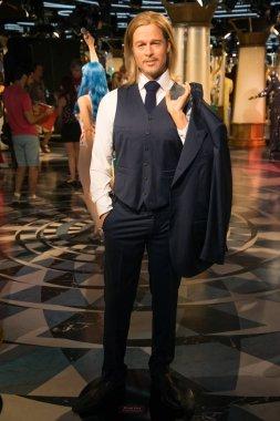 Brad Pitt in Grevin museum of the wax figures in Prague.