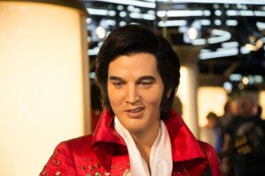 Elvis Presley in Grevin museum of the wax figures in Prague.