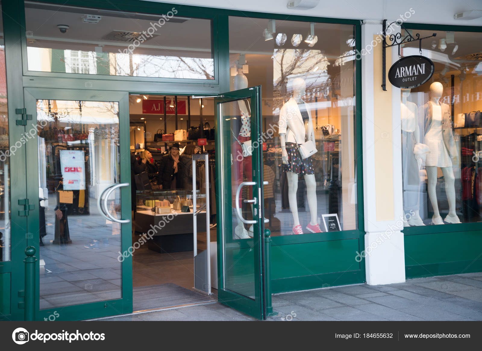 Parndorf Austria February 2018 Armani Outlet Store Parndorf Austria ... d66528ab229b5