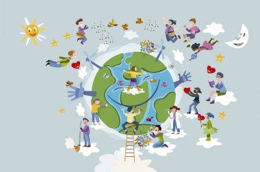 Children Take care of Planet Earth