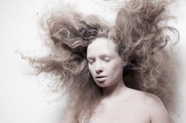 pale sleeping woman