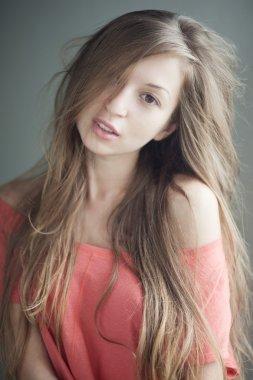 Portrait of romantic girl