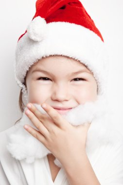 Child dressed as Santa Claus