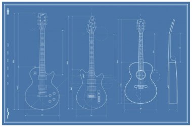 Blueprint with Electric and Acoustic Guitar
