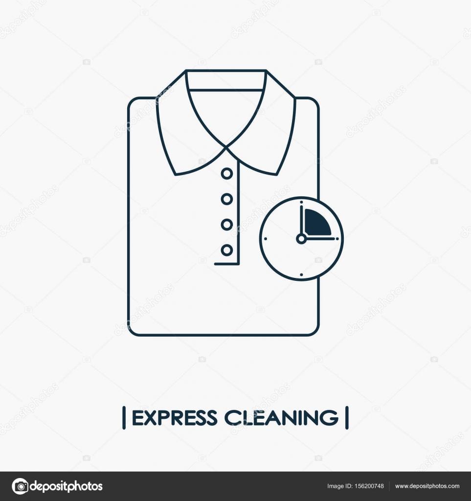 Express Reinigung Symbol Stockvektor C V Ronnica 156200748