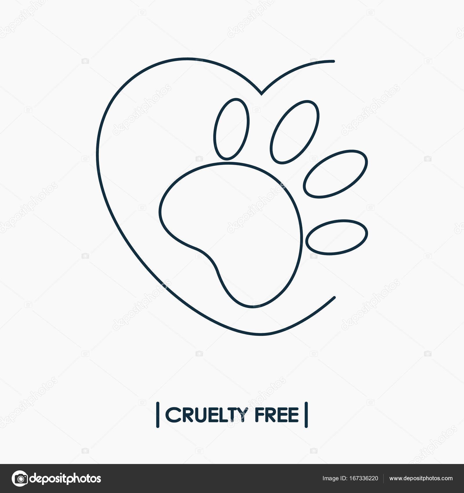 Animal Cruelty Free Logo Stock Vector Vnnica 167336220